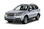 2017 Subaru Forester 2.5i-Limited-CVT 5 Door SUV Angular Front stock photos of front three quarter view
