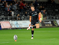 Ospreys' James Hook during the pre match warm up<br /> <br /> Photographer Ashley Crowden/CameraSport<br /> <br /> Guinness Pro14 Round 6 - Ospreys v Scarlets - Saturday 7th October 2017 - Liberty Stadium - Swansea<br /> <br /> World Copyright &copy; 2017 CameraSport. All rights reserved. 43 Linden Ave. Countesthorpe. Leicester. England. LE8 5PG - Tel: +44 (0) 116 277 4147 - admin@camerasport.com - www.camerasport.com