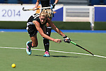 Glasgow 2014 Commonwealth Games<br /> Wales v England<br /> Julia Leah Wilkinson in action for Wales<br /> Glasgow National Hockey Centre<br /> <br /> 24.07.14<br /> ©Steve Pope-SPORTINGWALES