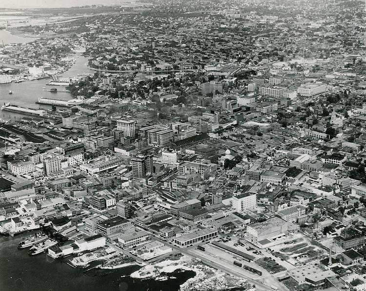 UNDATED..Historical..View looking Northwest at Downtown Norfolk...NEG#.NRHA#..
