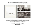 Five photographs by Michael Knapstein were named finalists in the Charles Dodgson Black and White Photography Awards and one was also named an Honorable Mention Winner.