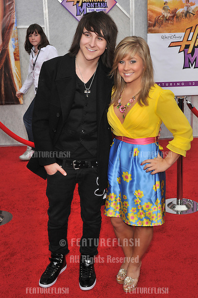 "Mitchel Musso & Shawn Johnson at the world premiere of ""Hannah Montana The Movie"" at the El Capitan Theatre, Hollywood..April 2, 2009  Los Angeles, CA.Picture: Paul Smith / Featureflash"