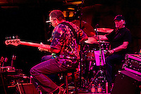 George Porter Jr. and Bill Kreutzmann performing with 7 Walkers in Concert in The Wolfs Den at Mohegan Sun Casino on December 9, 2010