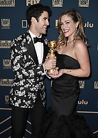 BEVERLY HILLS - JANUARY 6: Darren Criss, Mia Swier attend the 2019 Fox Nominee Party for the 76th Annual Golden Globe Awards at the Fox Terrace on the Roof Deck of the Beverly Hilton on January 6, 2019, in Beverly Hills, California. (Photo by Scott Kirkland/Fox/PictureGroup)