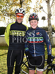 Martin Peters and Alex Byrne who took part in the Louth Costal Cycle Tour hosted by Drogheda Wheelers with all proceeds going to Donore National School. Photo:Colin Bell/pressphotos.ie