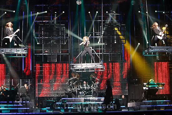 Trent Nelson  |  The Salt Lake Tribune.Trans-Siberian Orchestra performed at EnergySolutions Arena Thursday, November 18, 2010. Caitlin Moe (center)