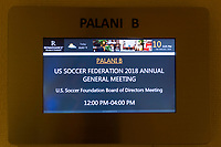 Orlando, FL - Saturday February 10, 2018: AGM, Participants during U.S. Soccer's Annual General Meeting (AGM) at the Renaissance Orlando at SeaWorld.