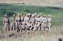 Iraq 1980 <br /> In Sheikhan, Masoud Barzani with Hoshyar Zibari, Mohammed Saleh Goma, Babeker Zibari,Ali Abdullah  <br /> Irak 1980 <br /> A sheikhan, Masoud Barzani avec Hoshyar Zibari, Mohammed Saleh Goma, Babeker Zibari, Ali Abdullah