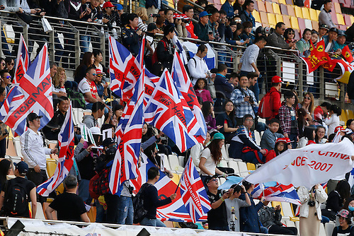 15.04.2016 Shanghai, China. F1 Grand Prix of China, Practise day. Throngs of Union Jack waving Hamilton fans