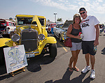 Tammy and Joe Collinsworth during the Hot August Nights Pre-Kickoff Party at the Bonanza Casino in Reno, Nevada on Sunday, August 6, 2017.