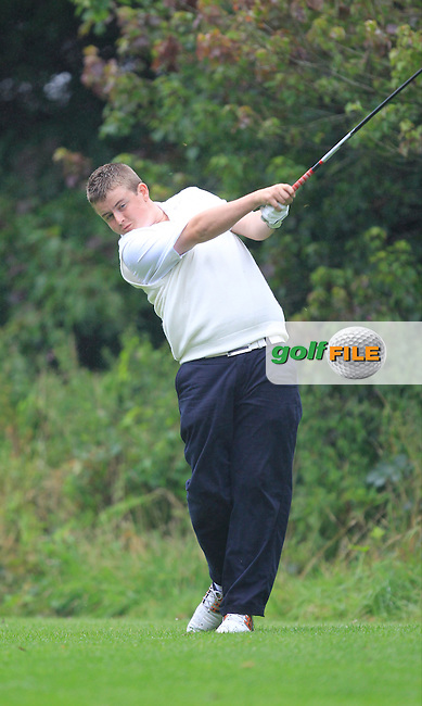 Owen Crooks (Ulster) on the 16th tee during the Final day of the Boys Under 15 Interprovincial Championship at the West Waterford Golf Club on Friday 23rd August 2013 <br /> Picture:  Thos Caffrey/ www.golffile.ie