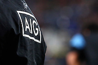 AIG logoduring the 2013 Rugby Championship - All Blacks v Argentina at Waikato Stadium, Hamilton, New Zealand on Saturday, 7th September   2013. Copyright Dion Mellow Photography. Credit DMP / Dion Mellow