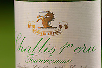 Chablis 1er premier cru Fourchaume P and JM Delaunay, Bourgogne, Burgundy, France. Sweden, Europe.