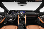Stock photo of straight dashboard view of 2019 Lexus RC 300h-Privilege-Line 2 Door Coupe Dashboard