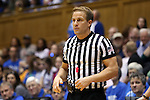 21 February 2016: Referee Rod Creech. The Duke University Blue Devils hosted the Georgia Tech Yellow Jackets at Cameron Indoor Stadium in Durham, North Carolina in a 2015-16 NCAA Division I Women's Basketball game. Georgia Tech won the game 64-59.