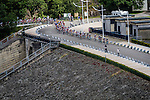 The peloton on the Gileppe dam, Stage 4 Hotel Verviers - La Gileppe (Jalhay), België, Ster ZLM Toer, Gileppe Belgium, 21th June 2014, Photo by Thomas van Bracht / Peloton Photos