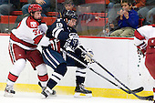 Desmond Bergin (Harvard - 37), Kenny Agostino (Yale - 18) - The Yale University Bulldogs defeated the Harvard University Crimson 5-1 on Saturday, November 3, 2012, at Bright Hockey Center in Boston, Massachusetts.
