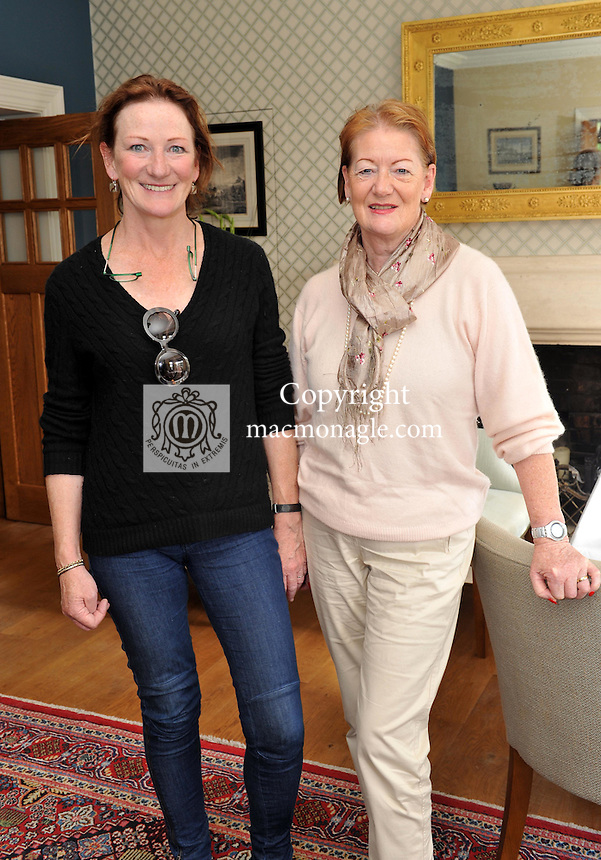 Pictured at the Ard na Sidhe Manor House afternoon tea and culture with Artist Pauline Bewick  overlooking Caragh Lake were sisters Gemma Billington, Caragh Lake and Josephine Kraft, KIllarney..Picture by Don MacMonagle..PR photo: Ard na SIdhe:.Further info: Joanne Byrne / Presence PR 353 1 676 1062