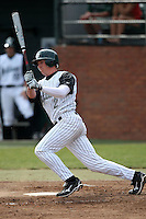 February 21, 2010:  Second Baseman Robert Crews (2) of the Stetson Hatters during the teams opening series at Melching Field at Conrad Park in DeLand, FL.  Photo By Mike Janes/Four Seam Images