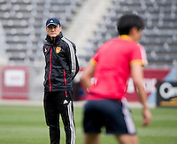 Commerce City, CO - April 5, 2014: The Chinese women's national team held a training session at Dick's Sporting Goods Park in Commerce City, Colorado.