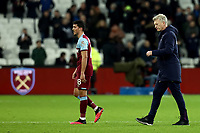 29th January 2020; London Stadium, London, England; English Premier League Football, West Ham United versus Liverpool; A dejected West Ham United Manager David Moyes after the 0-2 loss