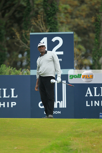 Vijay Singh (FIJ) during Round 2 of the Alfred Dunhill Links Championship at Kingsbarns Golf Club on Friday 27th September 2013.<br /> Picture:  Thos Caffrey / www.golffile.ie