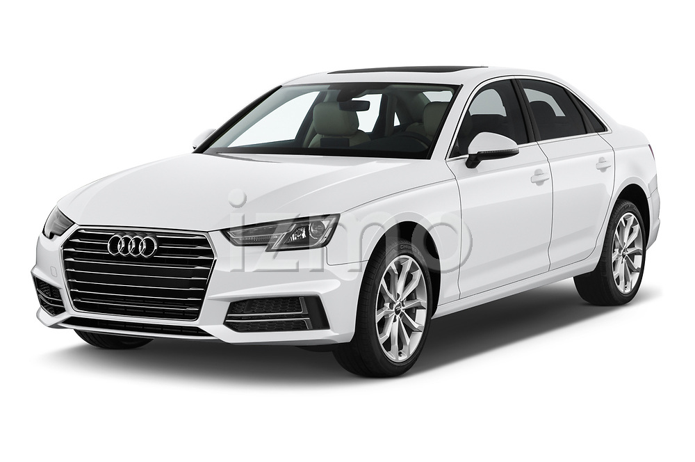 2019 Audi A4 Premium 4 Door Sedan angular front stock photos of front three quarter view