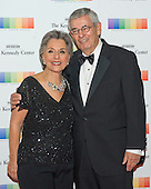 United States Senator Barbara Boxer (Democrat of California) and her husband, Stewart, arrive for the formal Artist's Dinner honoring the recipients of the 38th Annual Kennedy Center Honors hosted by United States Secretary of State John F. Kerry at the U.S. Department of State in Washington, D.C. on Saturday, December 5, 2015. The 2015 honorees are: singer-songwriter Carole King, filmmaker George Lucas, actress and singer Rita Moreno, conductor Seiji Ozawa, and actress and Broadway star Cicely Tyson.<br /> Credit: Ron Sachs / Pool via CNP