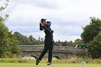 Stefano Mazzoli of Team Italy on the 1st tee during Round 3 of the WATC 2018 - Eisenhower Trophy at Carton House, Maynooth, Co. Kildare on Friday 7th September 2018.<br /> Picture:  Thos Caffrey / www.golffile.ie<br /> <br /> All photo usage must carry mandatory copyright credit (&copy; Golffile | Thos Caffrey)