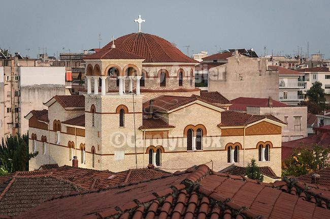 Red dome Orthodox Church, Trikala, Greece