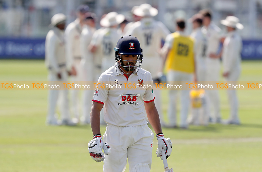 Ravi Bopara of Essex leaves the field having been caught out during Kent CCC vs Essex CCC, Specsavers County Championship Division 1 Cricket at the St Lawrence Ground on 20th August 2019