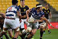 Auckland&rsquo;s Jonathan Ruru in action during the Mitre 10 Cup - Wellington v Auckland at Westpac Stadium, Wellington, New Zealand on Thursday 4 October 2018. <br /> Photo by Masanori Udagawa. <br /> www.photowellington.photoshelter.com