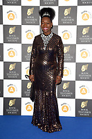 LONDON, UK. March 19, 2019: Floella Benjamin arriving for the Royal Television Society Awards 2019 at the Grosvenor House Hotel, London.<br /> Picture: Steve Vas/Featureflash