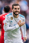 Nacho Fernandez of Real Madrid runs for celebrating his score during the La Liga 2017-18 match between Real Madrid and Sevilla FC at Santiago Bernabeu Stadium on 09 December 2017 in Madrid, Spain. Photo by Diego Souto / Power Sport Images