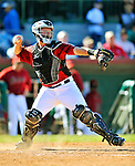 11 March 2011: Houston Astros' catcher Chris Wallace in action during a Spring Training game against the Boston Red Sox at Osceola County Stadium in Kissimmee, Florida. The Red Sox defeated the Astros 9-3 in Grapefruit League action. Mandatory Credit: Ed Wolfstein Photo