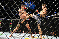 BOSTON, EUA, 18.10.2019 - UFC-BOSTON - Lutadores Randy Costa (vermelho) e Boston Salmon (azul) durante UFC Fight Night no Td Garden em Boston no Estado de Massachusetts nos Estados Unidos na noite desta sexta-feira, 18. (Foto: Vanessa Carvalho/Brazil Photo Press/Folhapress)
