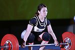 Hiromi Miyake, <br /> MAY 21, 2016 - Weightlifting : <br /> All Japan Weightlifting Championship 2016 Women's -53kg <br /> at Yamanashi Municipal Gymnasium, Yamanashi, Japan. <br /> (Photo by AFLO SPORT)