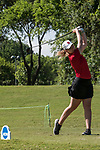 HOUSTON, TX - MAY 12: Christina Herbert of Bridgewater College teed off during the Division III Women's Golf Championship held at Bay Oaks Country Club on May 12, 2017 in Houston, Texas. (Photo by Rudy Gonzalez/NCAA Photos/NCAA Photos via Getty Images)