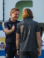 AFC Wimbledon Manager Neal Ardley during the Friendly match between Wycombe Wanderers and AFC Wimbledon at Adams Park, High Wycombe, England on 25 July 2017. Photo by Andy Rowland.