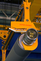 An Heavy Duty Semi-Automatic 60 + 60 ton Kone Crane in Oji Paper Factory, in Nantong, Jiangsu province, China, on May 25, 2010. Photo by Lucas Schifres/Pictobank