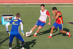 Spanish Csar Azpilicueta and David De Gea during the first training of the concentration of Spanish football team at Ciudad del Futbol de Las Rozas before the qualifying for the Russia world cup in 2017 August 29, 2016. (ALTERPHOTOS/Rodrigo Jimenez)