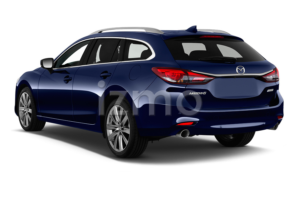 Car pictures of rear three quarter view of 2019 Mazda Mazda6 Skycrusie 5 Door Wagon Angular Rear