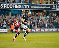 GOAL - Millwall's Aiden O'Brien celebrates making it 2-2 during the Sky Bet Championship match between Millwall and Ipswich Town at The Den, London, England on 15 August 2017. Photo by Carlton Myrie.
