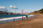 Baker Beach, Golden Gate Bridge, San Francisco, California, USA.  Photo copyright Lee Foster.  Photo # california108652