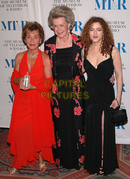 JUDGE JUDY SHEINDLIN, DINA MERILL & BERNADETTE PETERS.arrive at The Museum of Television and Radio's Annual Gala where Merv Griffin is being honored for his award winning career in radio and television..New York, New York, USA, 26 May 2005..full length.Ref: ADM.www.capitalpictures.com.sales@capitalpictures.com.©Patti Ouderkirk/AdMedia/Capital Pictures.