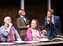 Clarion by Mark Jagasia, directed by Mehmet Ergen. With Jim Bywater as Albert Duffy, Clare Higgins as Verity Stokes, John Atterbury as Dickie Dufois, Greg Hicks as Morris Honeyspoon,  Opens at The Arcola Theatre on 22/4/15. CREDIT Geraint Lewis