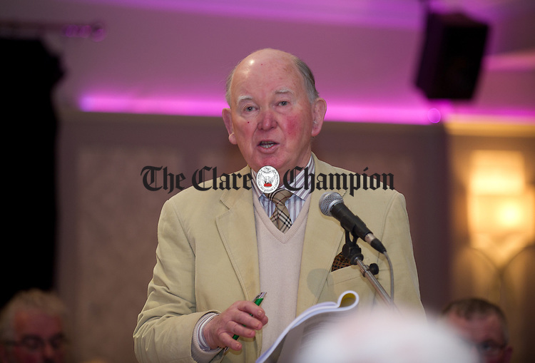 Noel Walsh speaking from the floor at the Clare GAA annual convention at the Auburn Lodge hotel, Ennis. Photograph by John Kelly.