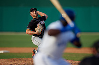 Jupiter Hammerheads relief pitcher Daniel Castano (21) during a Florida State League game against the Dunedin Blue Jays on May 15, 2019 at Jack Russell Memorial Stadium in Clearwater, Florida.  Jupiter defeated Dunedin 5-1 in seven innings, the first game of a doubleheader.  (Mike Janes/Four Seam Images)