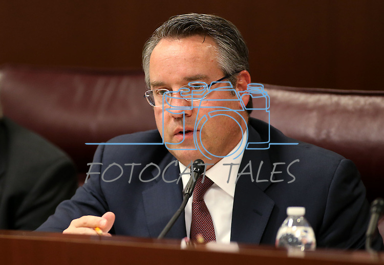 Nevada Sen. Mark Lipparelli, R-Las Vegas, works in committee at the Legislative Building in Carson City, Nev., on Tuesday, May 12, 2015. <br /> Photo by Cathleen Allison