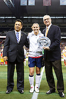 U.S. Women's National Team vs. China - Fan Tribute Tour international friendly soccer game at Ford Field in Detroit, Sunday, Dec. 2, 2012. (ISI Photos/Rick Osentoski)